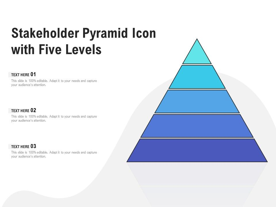Stakeholder Pyramid Icon With Five Levels
