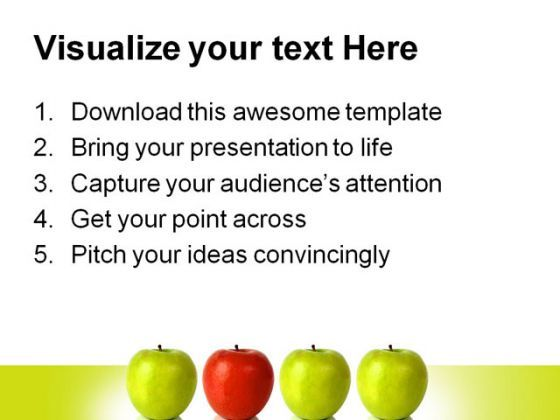 stand out red apple leadership powerpoint template 0810, Presentation templates