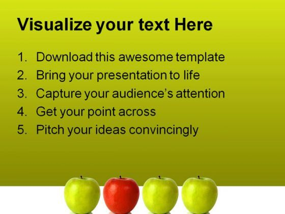 stand out red apple leadership powerpoint template 0810, Modern powerpoint