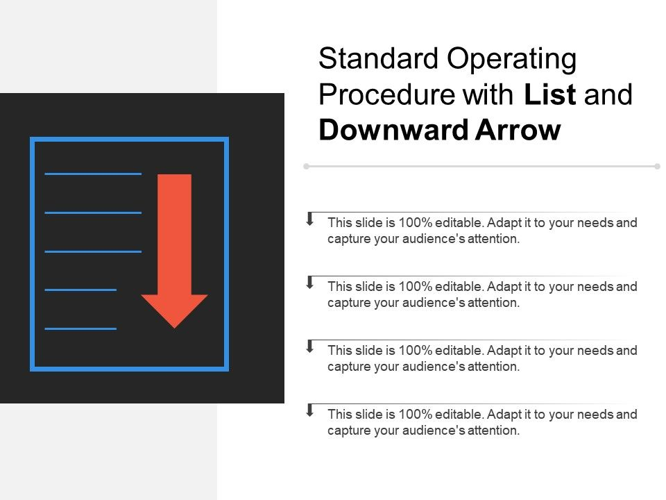 standard_operating_procedure_with_list_and_downward_arrow_Slide01