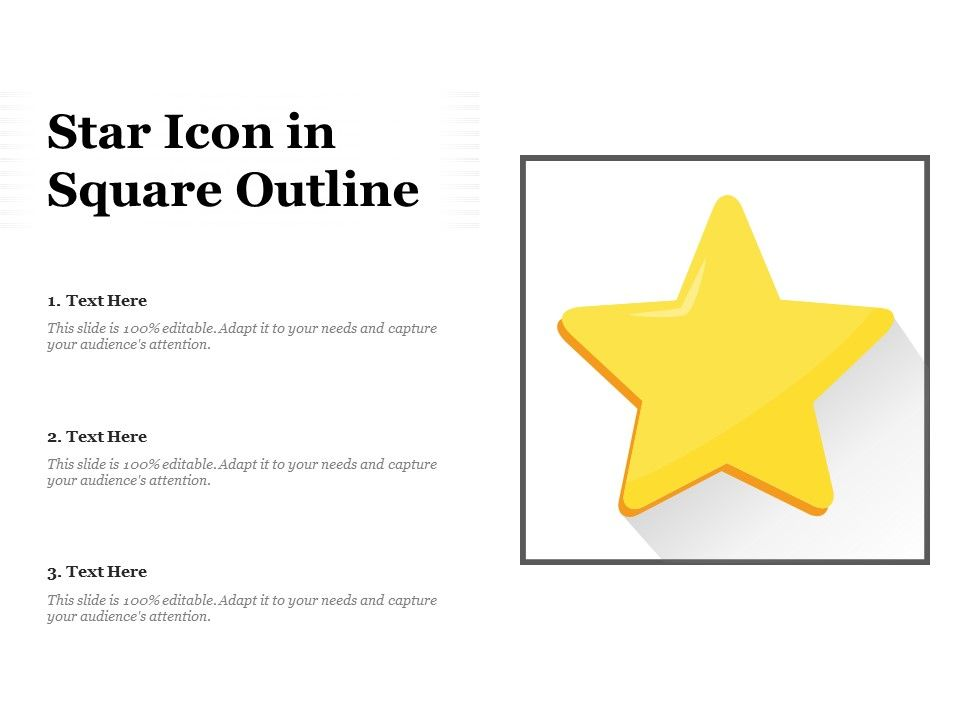 Star Icon In Square Outline