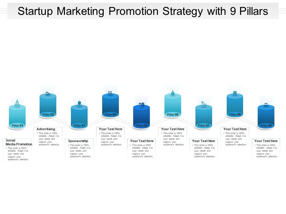 Startup Marketing Promotion Strategy With 9 Pillars