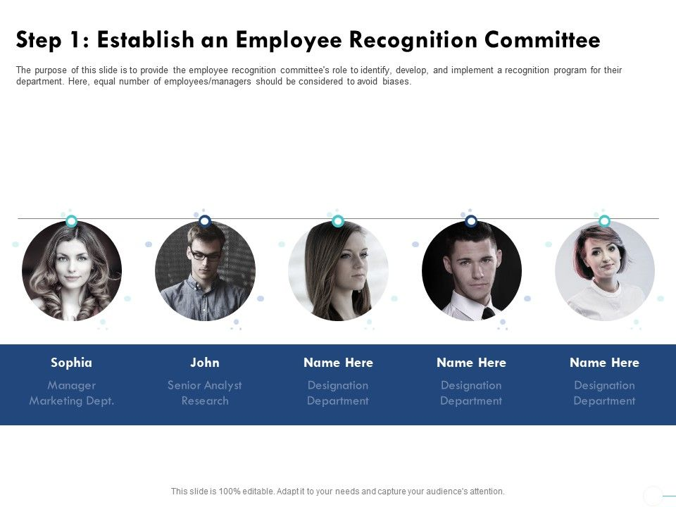 Step 1 Establish An Employee Recognition Committee Considered Ppt Powerpoint Presentation Show Diagrams