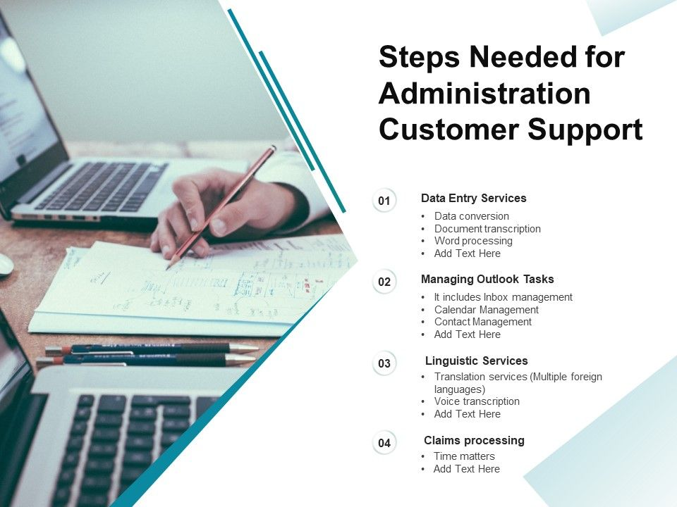 Steps Needed For Administration Customer Support