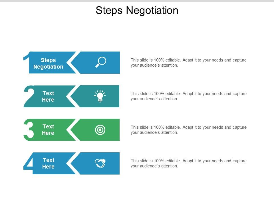 Steps Negotiation Ppt Powerpoint Presentation Show Visuals Cpb