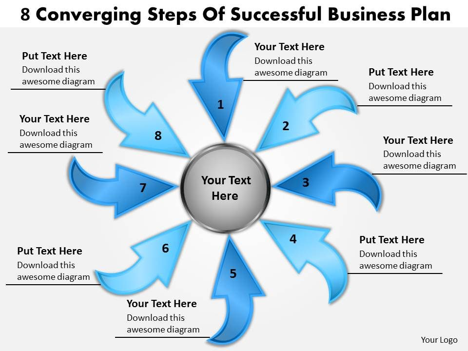 steps of successful free business powerpoint templates plan cycle, Modern powerpoint