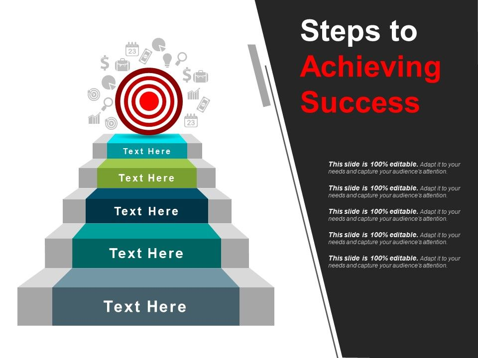 steps to achieving success powerpoint templates graphics