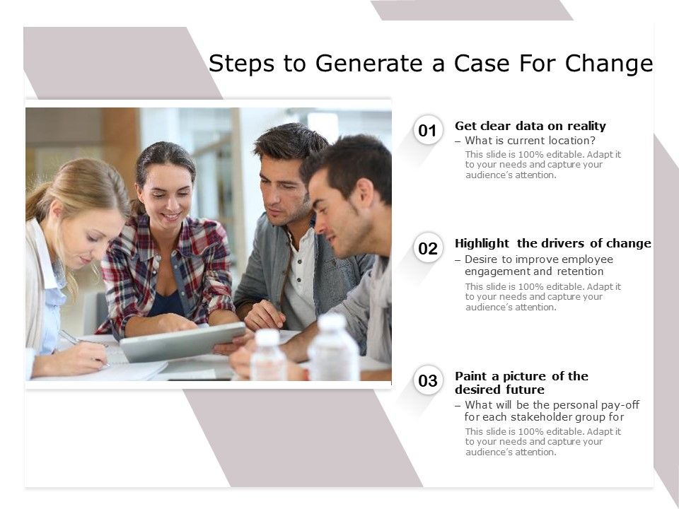 Steps To Generate A Case For Change