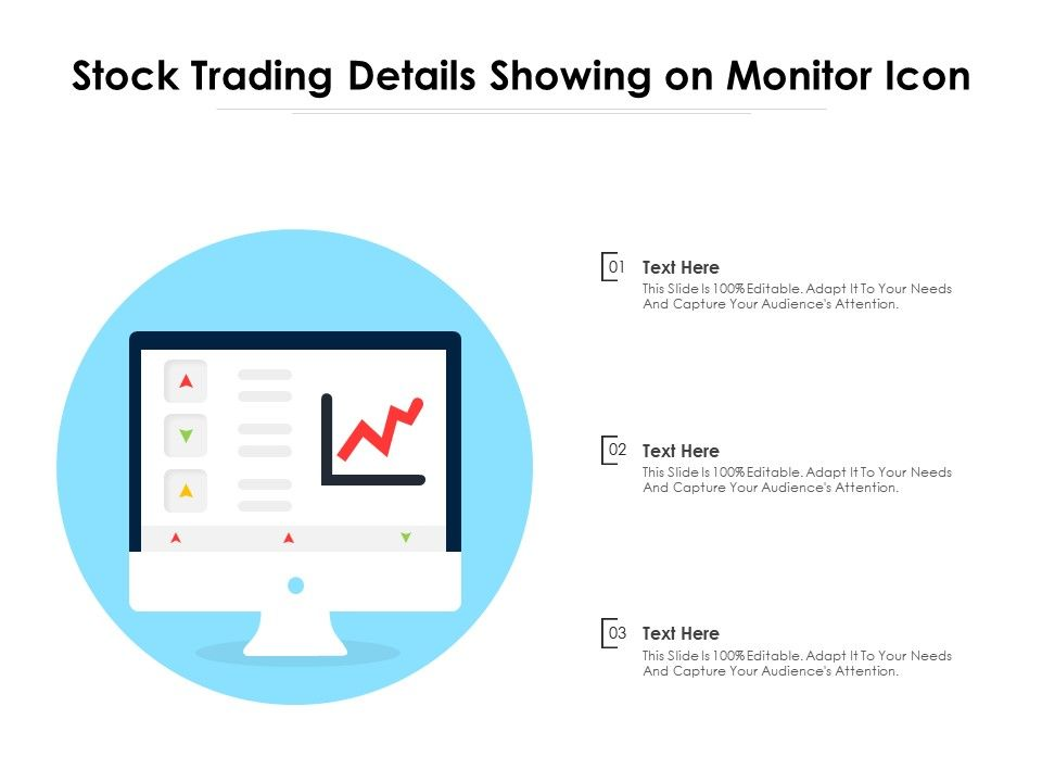 Stock Trading Details Showing On Monitor Icon