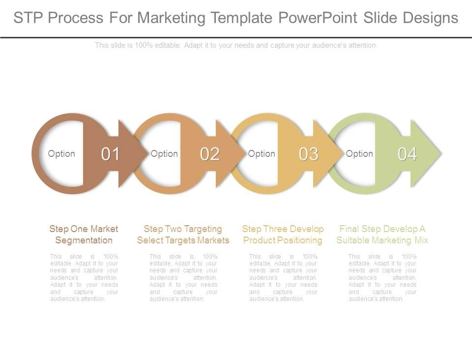 stp process for marketing template powerpoint slide designs