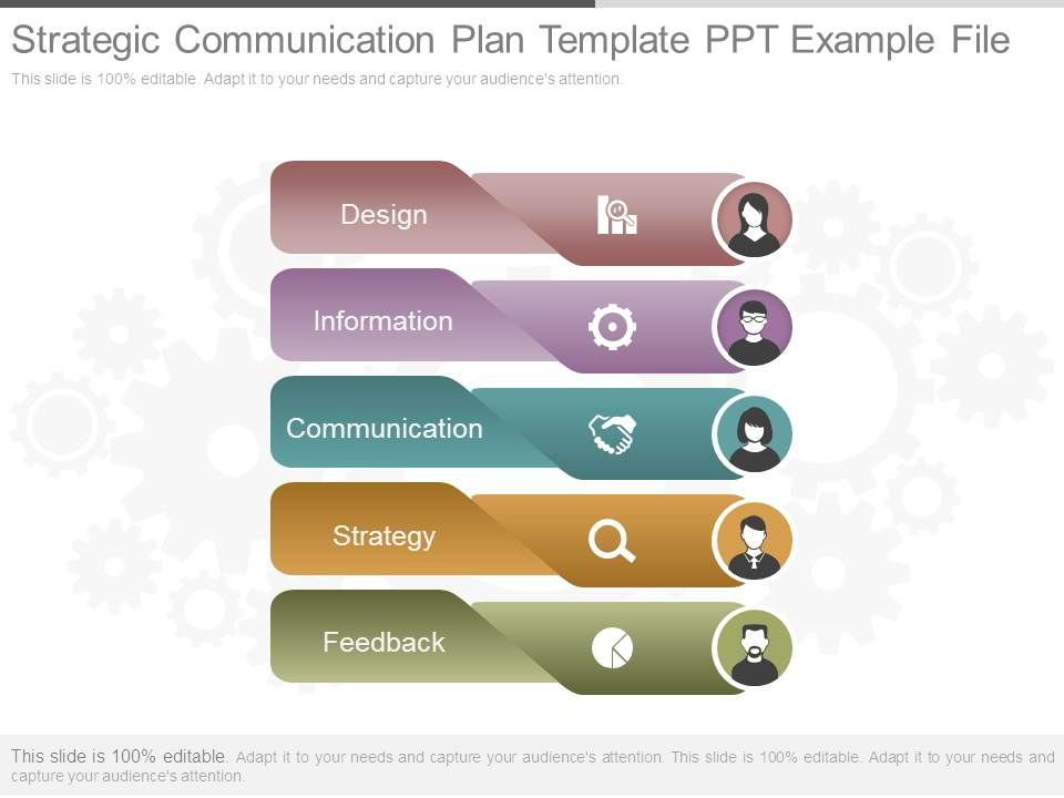 strategic communication plan template ppt example file
