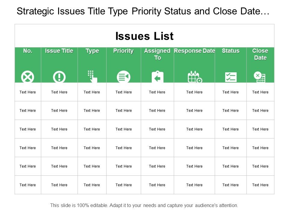 strategic_issues_title_type_priority_status_and_close_date_table_Slide01