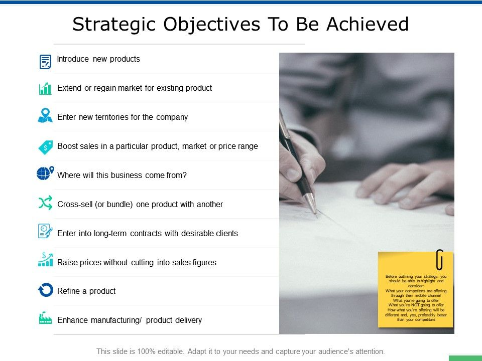 Strategic Objectives To Be Achieved Growth Ppt Powerpoint Presentation Gallery Background