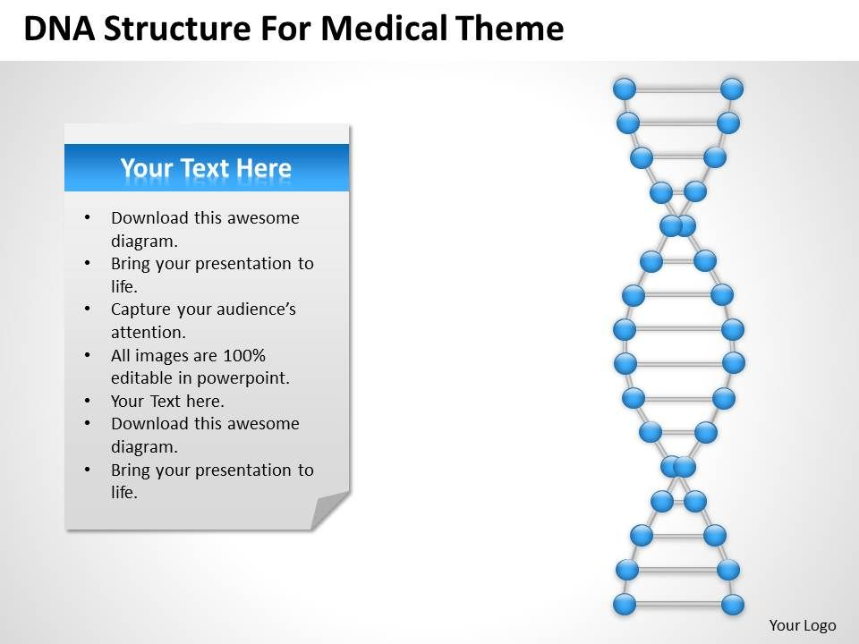 Strategic Planning Dna Structre For Medical Theme Powerpoint