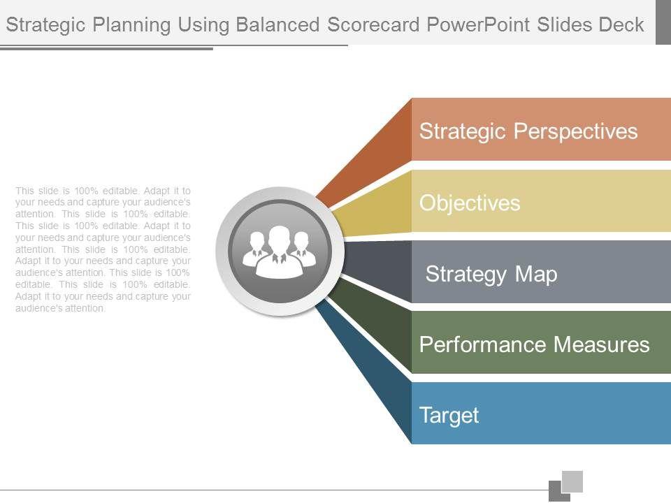 strategic planning using balanced scorecard powerpoint slides deck, Balanced Scorecard Ppt Template, Powerpoint templates