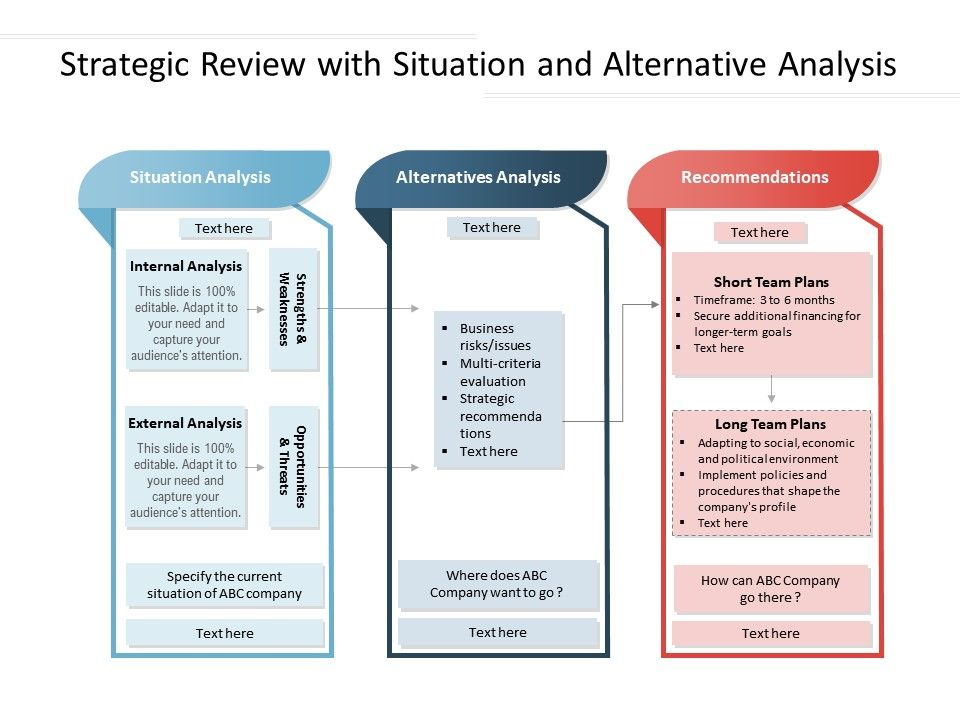 Strategic Review With Situation And Alternative Analysis