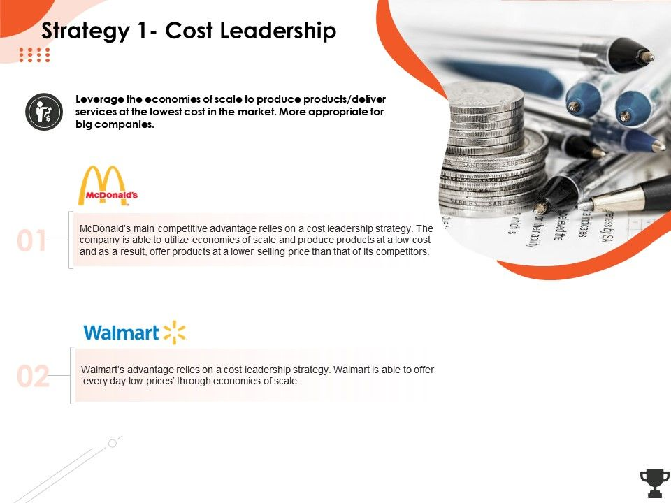 Strategy 1 Cost Leadership Economies Ppt Powerpoint Presentation Outline Templates