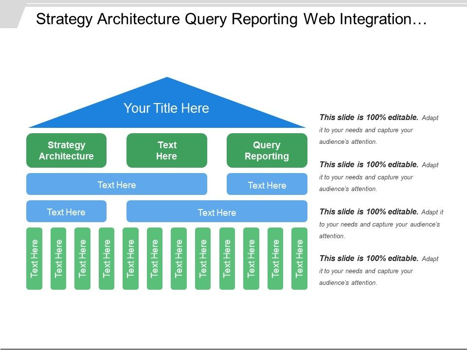 Strategy Architecture Query Reporting Web Integration Audit