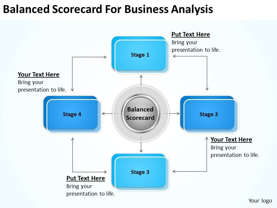 strategy balanced scorecard for business analysis powerpoint, Modern powerpoint