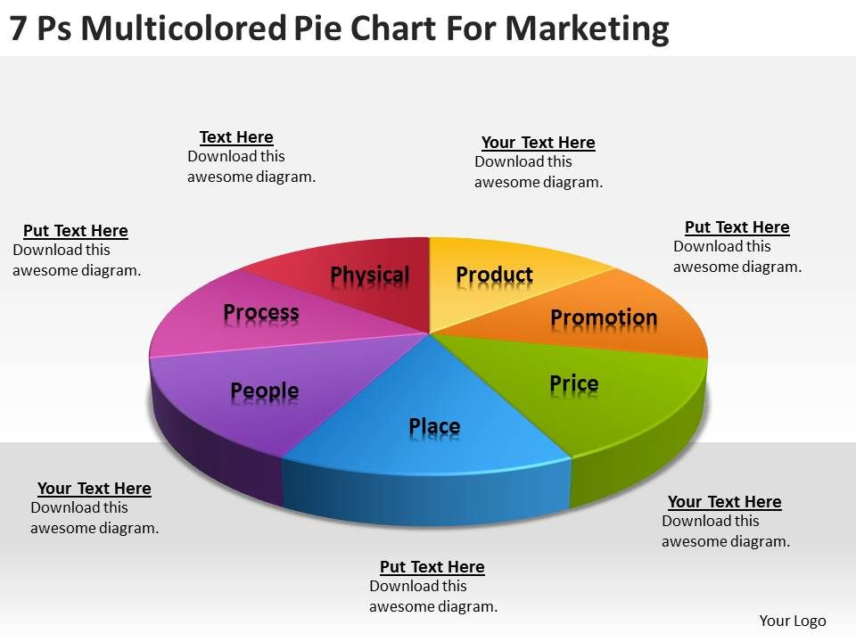 Strategy Consultants Pie Chart For Marketing Powerpoint Templates