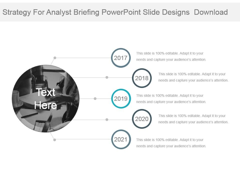 strategy for analyst briefing powerpoint slide designs download, Presentation templates