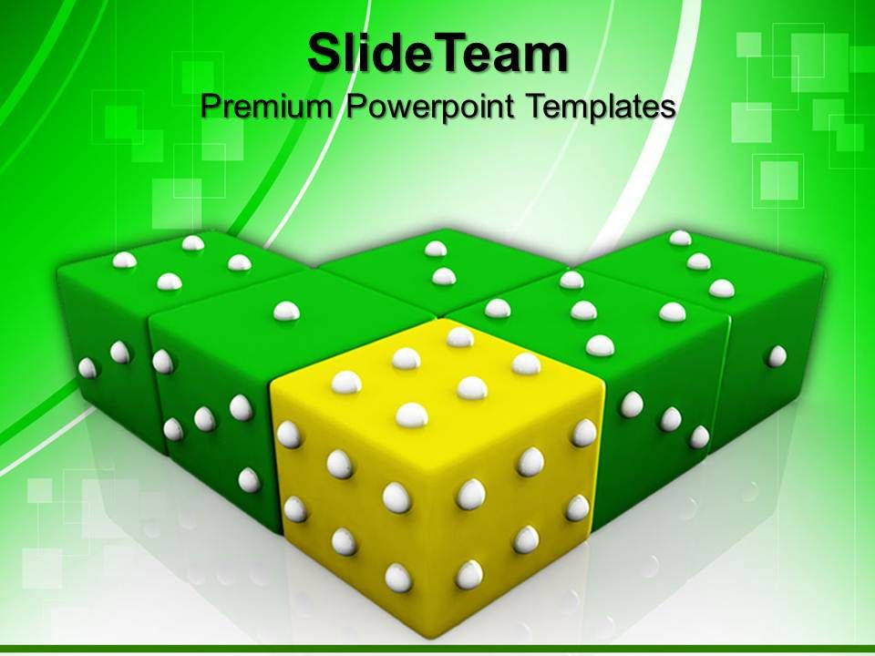 strategy_game_powerpoint_templates_yellow_dice_winning_leadership_chart_ppt_designs_Slide01