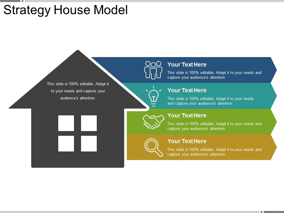 Strategy house model powerpoint presentation powerpoint for Strategy house template