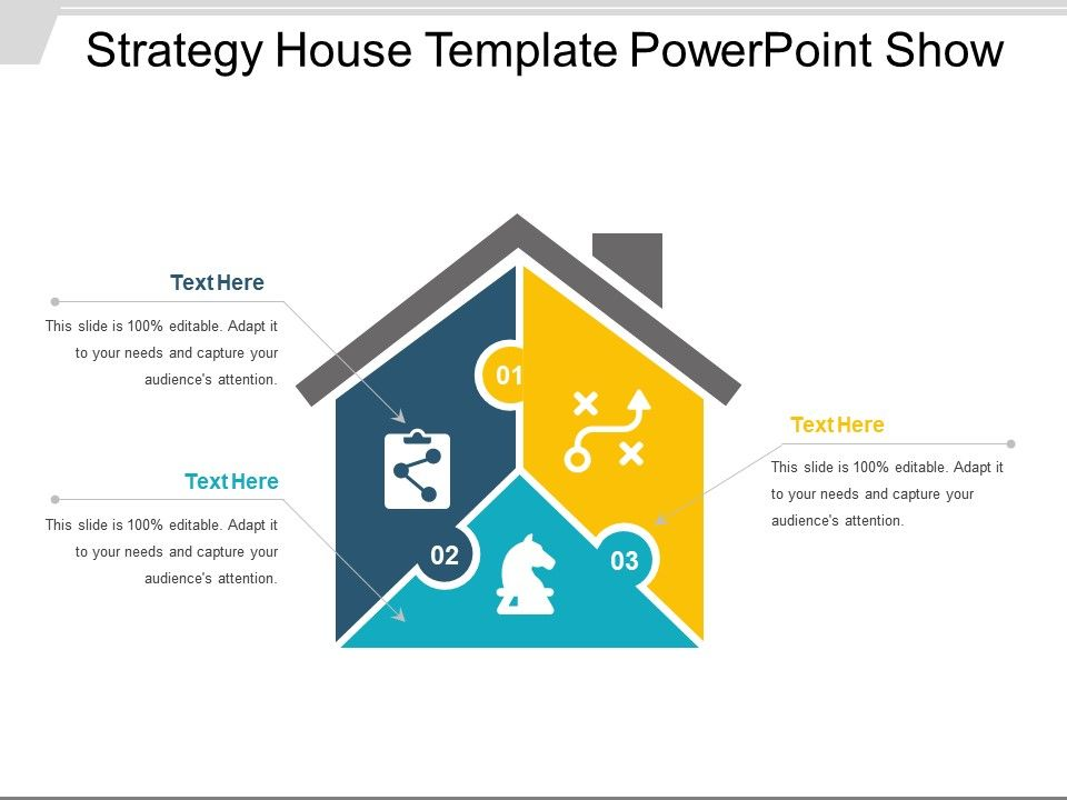 Strategy house template powerpoint show presentation for Strategy house template