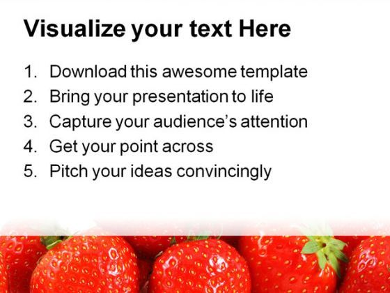 strawberries food powerpoint templates and powerpoint backgrounds