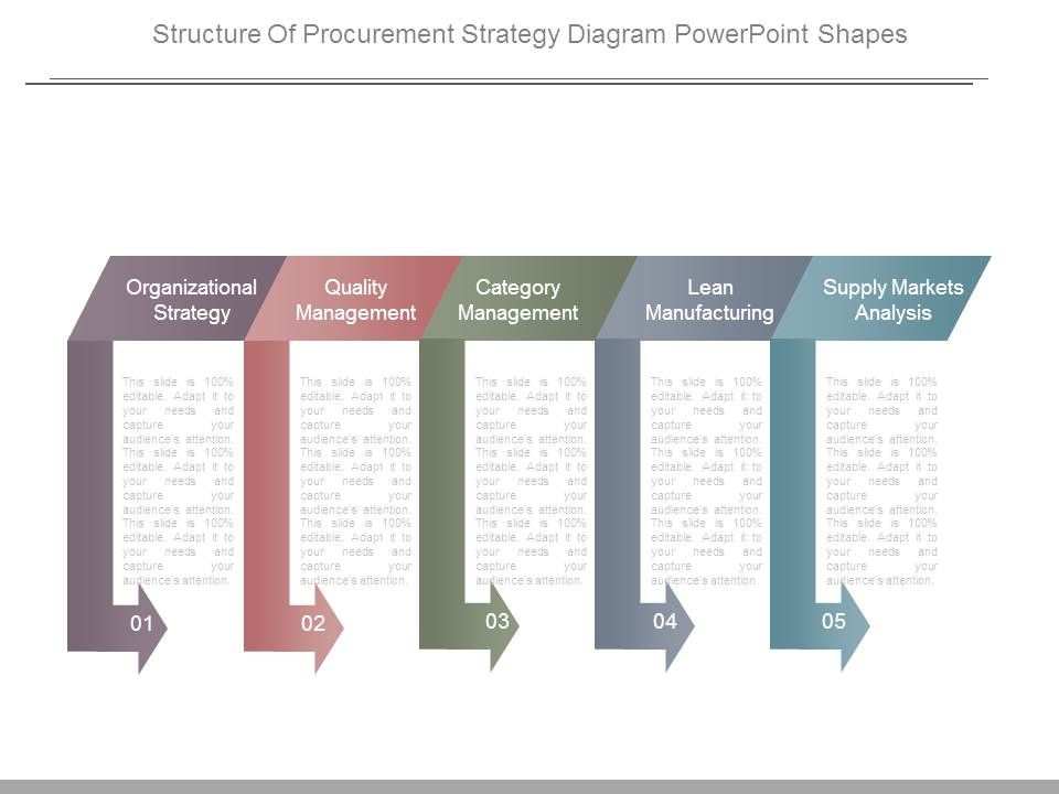 Structure of procurement strategy diagram powerpoint for Procurement category strategy template