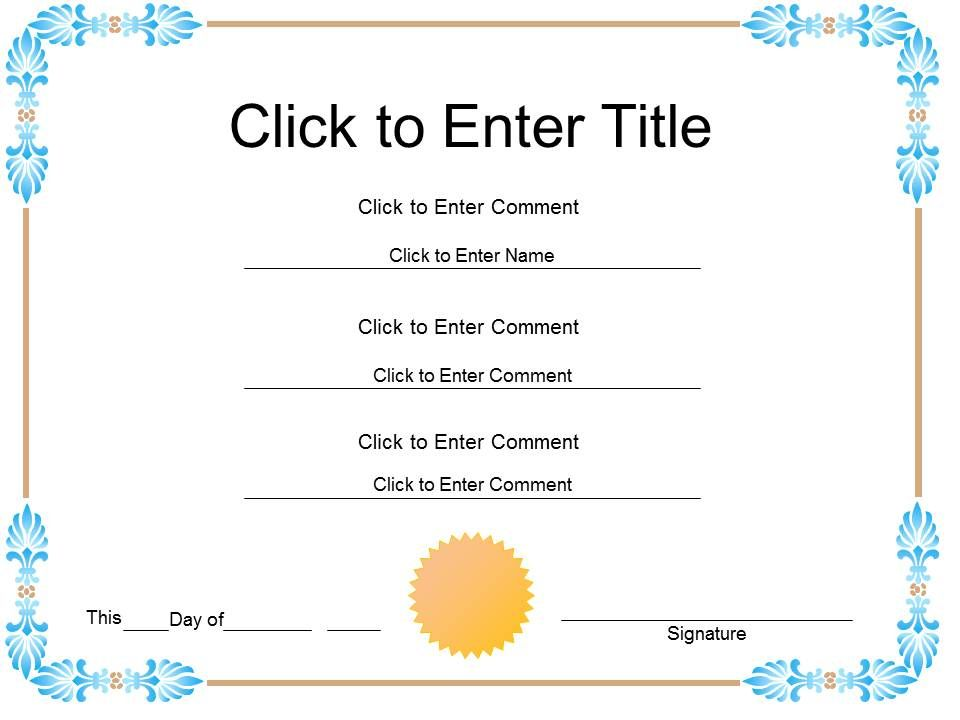 Student completion diploma certificate template of appreciation studentcompletiondiplomacertificatetemplateofappreciationcompletionpowerpointforkidsslide01 yadclub Choice Image