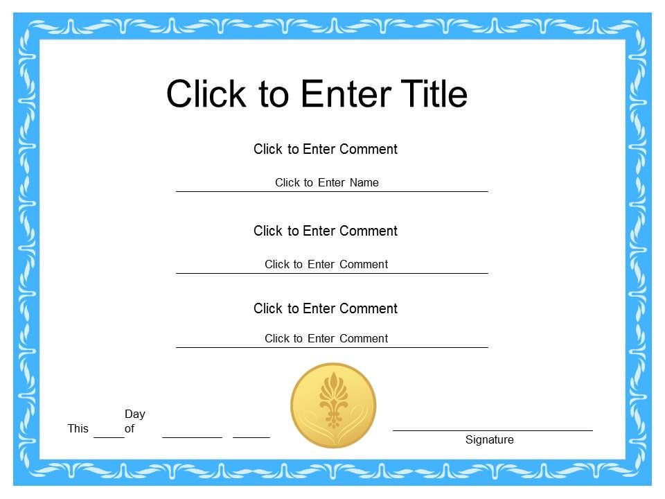 Diploma Certificate Template from www.slideteam.net