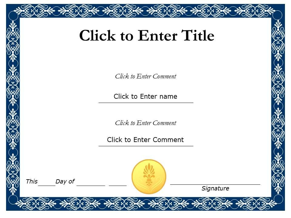 Student recognition diploma certificate template of completion studentrecognitiondiplomacertificatetemplateofcompletioncompletionpowerpointforkidsslide01 yelopaper Image collections
