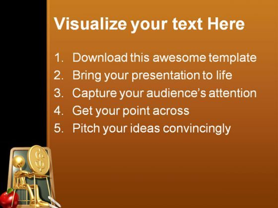 student studying dollar powerpoint template 0810 | powerpoint, Powerpoint Student Presentation Template Brown, Presentation templates