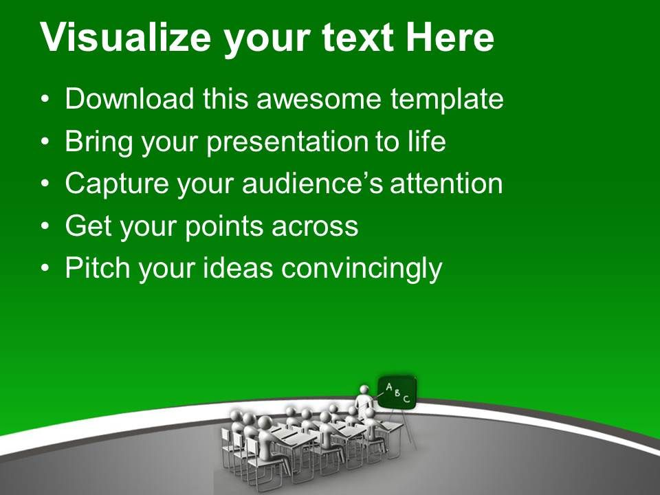 Students In Classroom Education Concept Powerpoint Templates Ppt