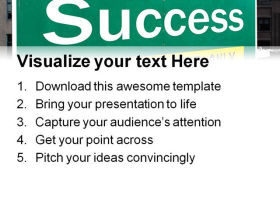 success highway signpost business powerpoint templates and