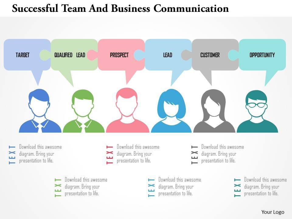 successful_team_and_business_communication_flat_powerpoint_design_Slide01