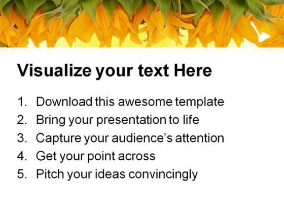 Sunflower Border Beauty PowerPoint Templates And PowerPoint ...