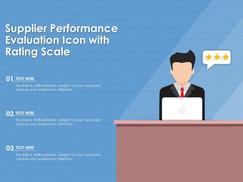 Supplier Performance Evaluation Icon With Rating Scale