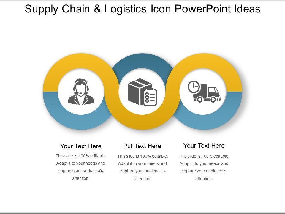 supply chain and logistics icon powerpoint ideas graphics