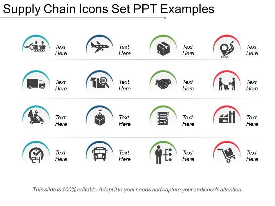 Supply Chain Icons Set Ppt Examples Powerpoint Templates