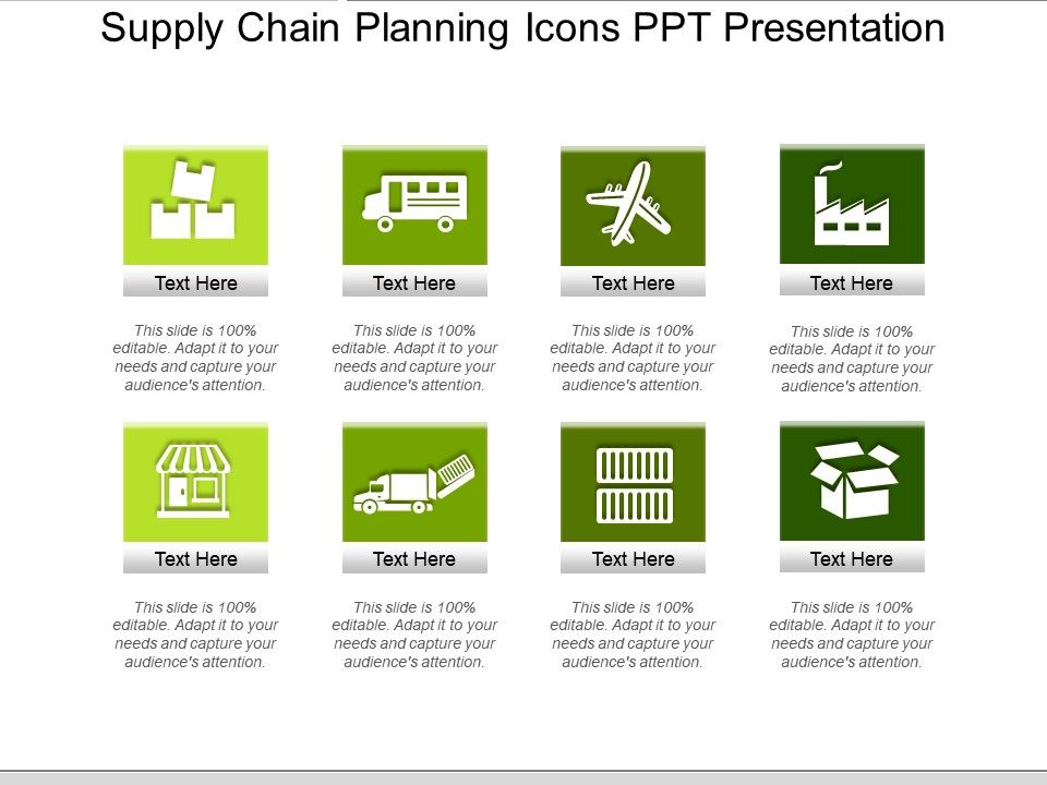 Supply Chain Planning Icons Ppt Presentation | PowerPoint