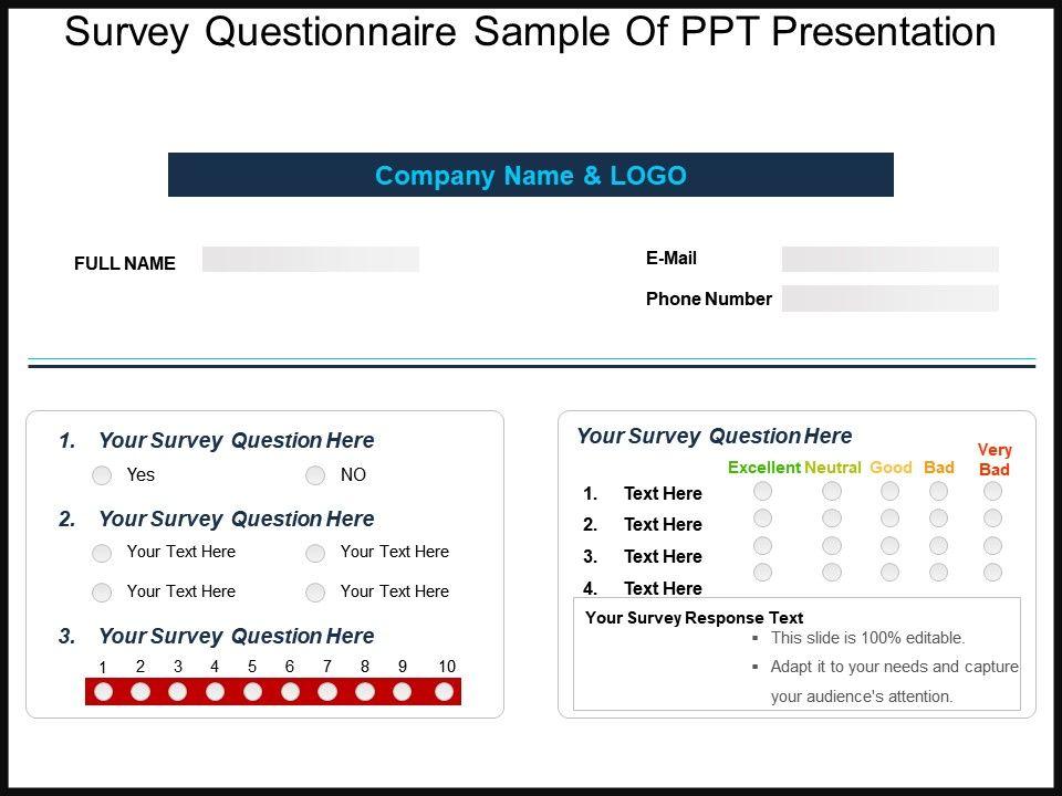 survey questionnaire sample of ppt presentation slide01