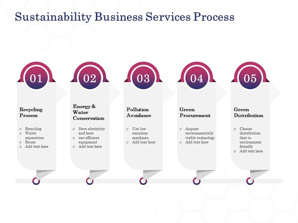 Sustainability Business Services Process Ppt Powerpoint Presentation Model Files