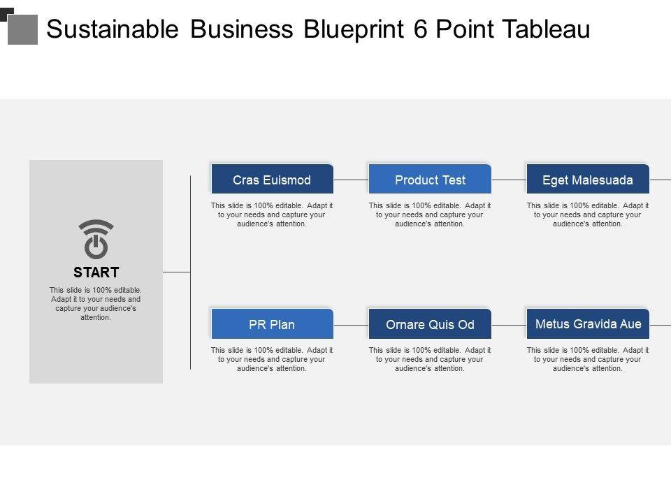 Sustainable business blueprint 6 point tableau powerpoint slides sustainablebusinessblueprint6pointtableauslide01 sustainablebusinessblueprint6pointtableauslide02 malvernweather Choice Image