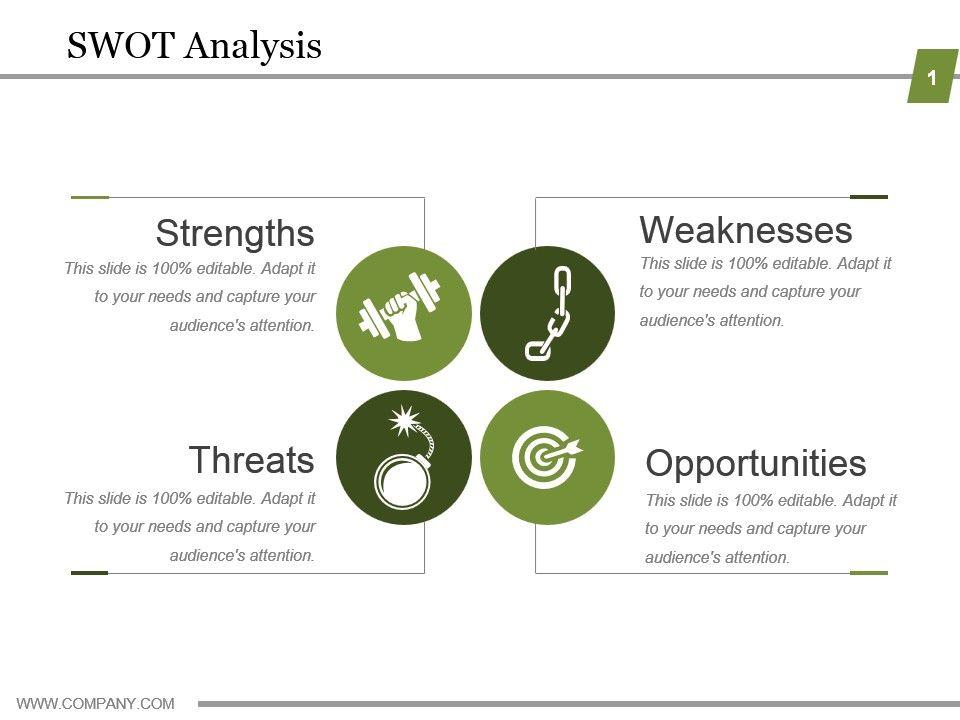 swot analysis powerpoint slides design presentation powerpoint