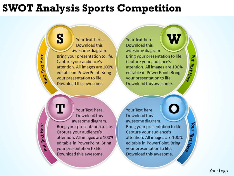 swot analysis sports competition ppt powerpoint slides powerpoint