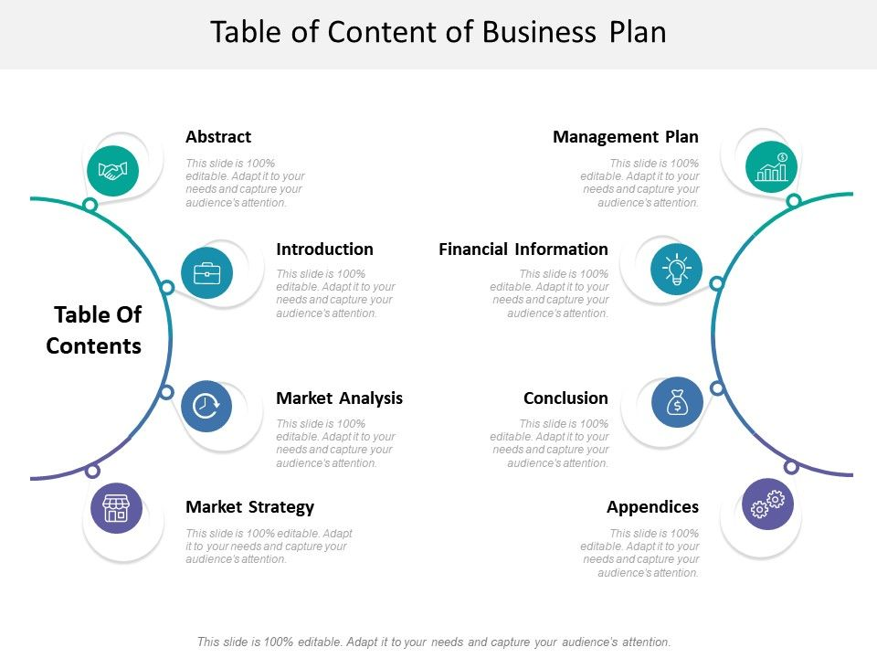 Table Of Content Of Business Plan Powerpoint Presentation Images Templates Ppt Slide Templates For Presentation