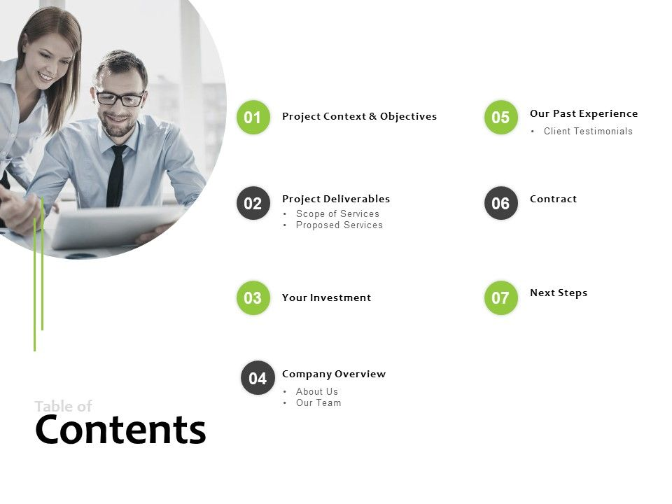 Table Of Contents Company Overview Ppt Powerpoint Presentation Pictures