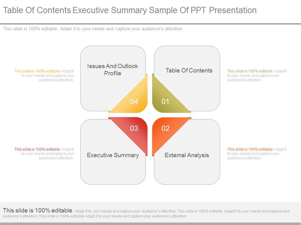 table_of_contents_executive_summary_sample_of_ppt_presentation_Slide01